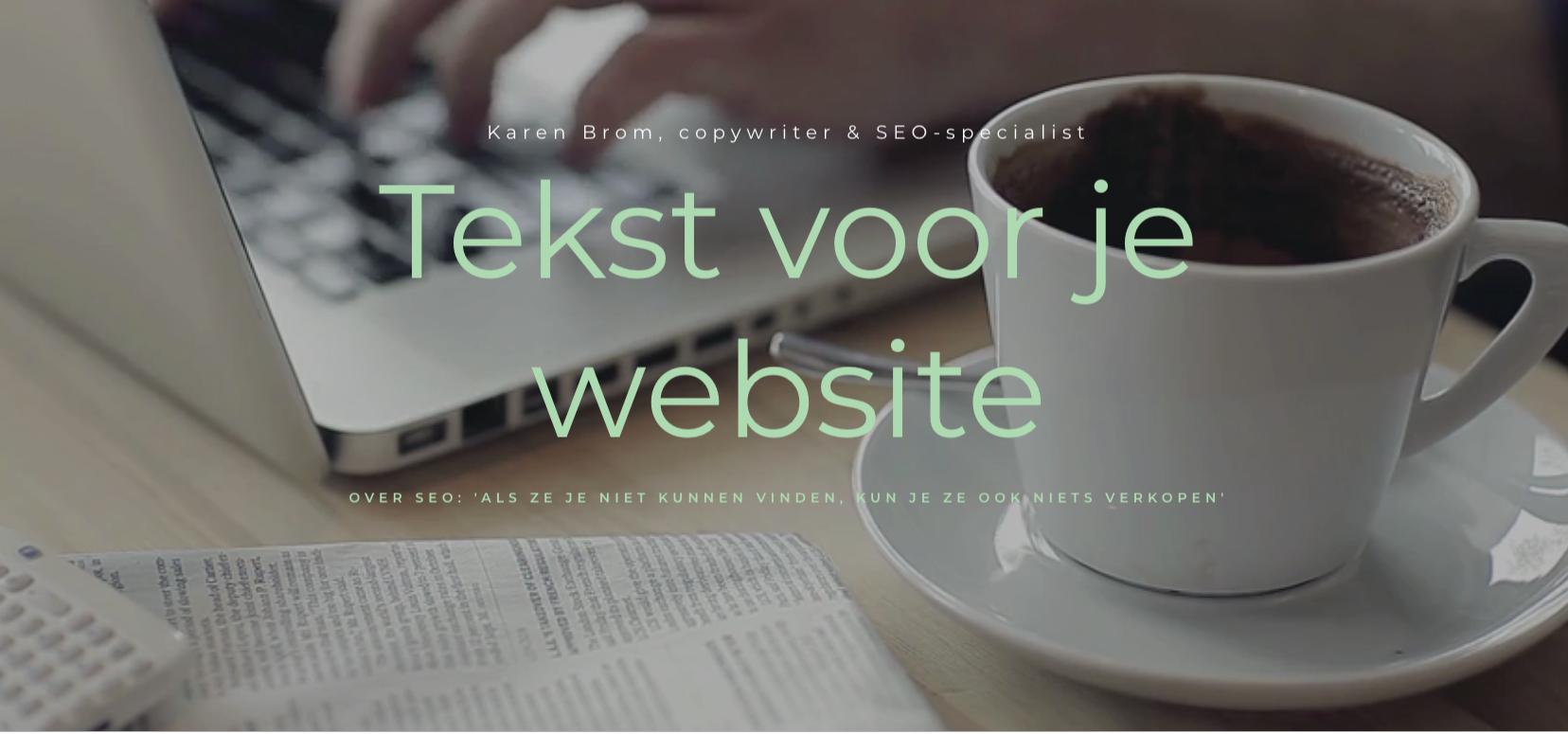tekstbureau karen Brom, afbeelding homepage